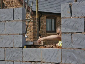 Blockwork as inner skin for building