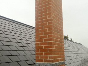 New chimney and new roof at Payhembury School