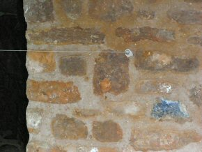 Stonework with lime mortar