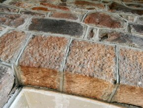 Stonework repair and re-pointing at Knowle Manor